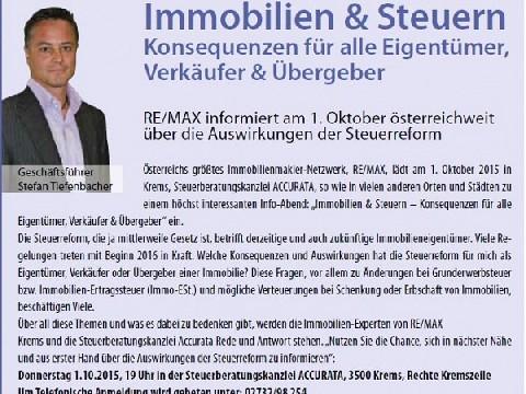Immobilien & Steuern, Datum: 04.09.2015