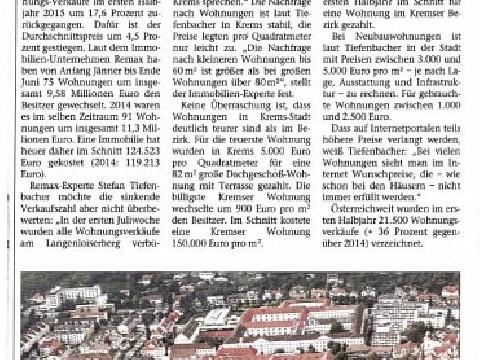 NÖN-Bericht!, Datum: 14.09.2015