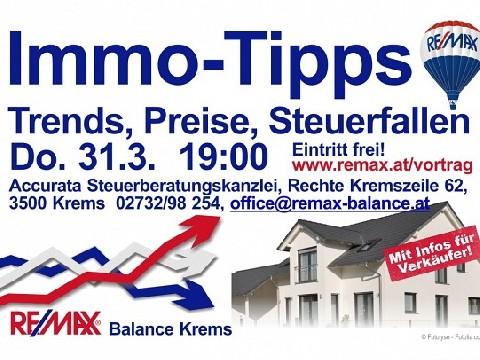Vortrag 31.03.2016 Immo-Tips Trends, Preise, Steuerfallen, Datum: 08.03.2016