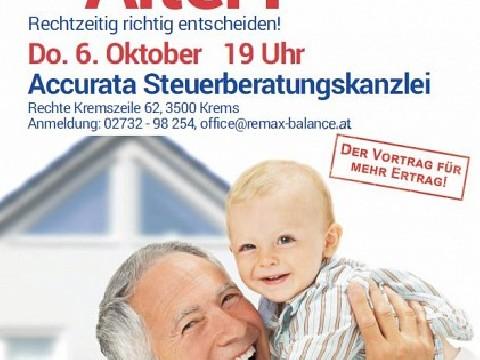 Vortrag Meine Immobilie im Alter!