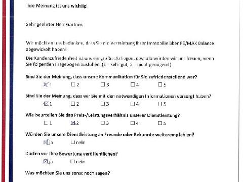 Leistungsbeurteilung - Fragebogen von Herrn Gartner, 23.06.2016