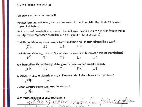 Leistungsbeurteilung - Fragebogen von Herrn OSR Neuhold, 25.10.2016
