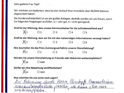 Leistungsbeurteilung - Fragebogen von Frau Topf, 22.11.2016