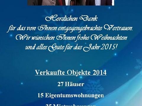 DAS TEAM VON RE/MAX BALANCE WÜNSCHT ALLEN EIN GESEGNETES WEIHNACHTSFEST !!!, Datum: 23.12.2014