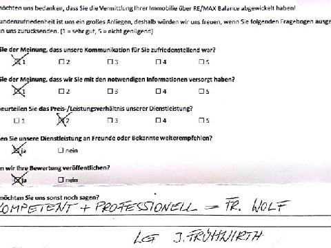 Leistungsbeurteilung - Fragebogen von Herrn Frühwirth, 27.08.2018