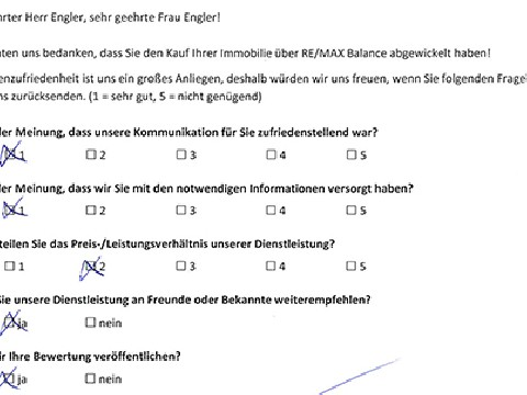 Leistungsbeurteilung - Fragebogen von Fam. Engler, 26.01.2018