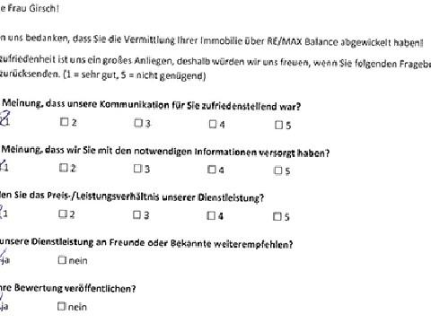 Leistungsbeurteilung - Fragebogen von Frau Girsch, 26.01.2018