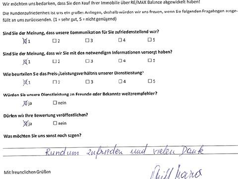 Leistungsbeurteilung - Fragebogen von Frau Grill, 19.12.2017