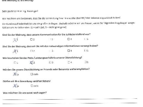 Leistungsbeurteilung - Fragebogen von Herrn Ing. Kotzinger, 07.08.2018