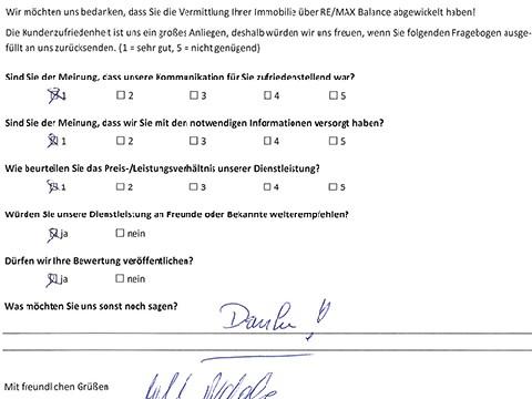 Leistungsbeurteilung - Fragebogen von Frau Rabl, 19.12.2017